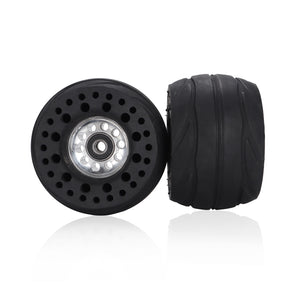StormEsk8 - 2/PACK LS2Y All-Terrain Electric Skateboard Rubber Front Wheels 105mmX66mm, 60A Durometer