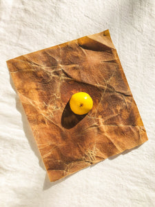 Naturally Dyed Cotton Beeswax Wraps