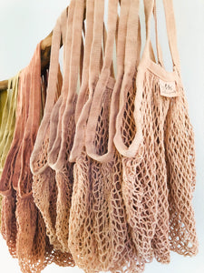 Naturally Dyed Mesh Grocery Bag