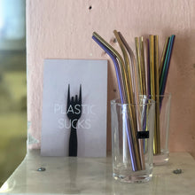 "Load image into Gallery viewer, TULZ 7"" Stainless Steel Reusable Straw"