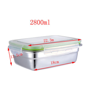 Stainless Steel Container With a Lid