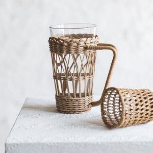 Rattan Woven Cup Cover