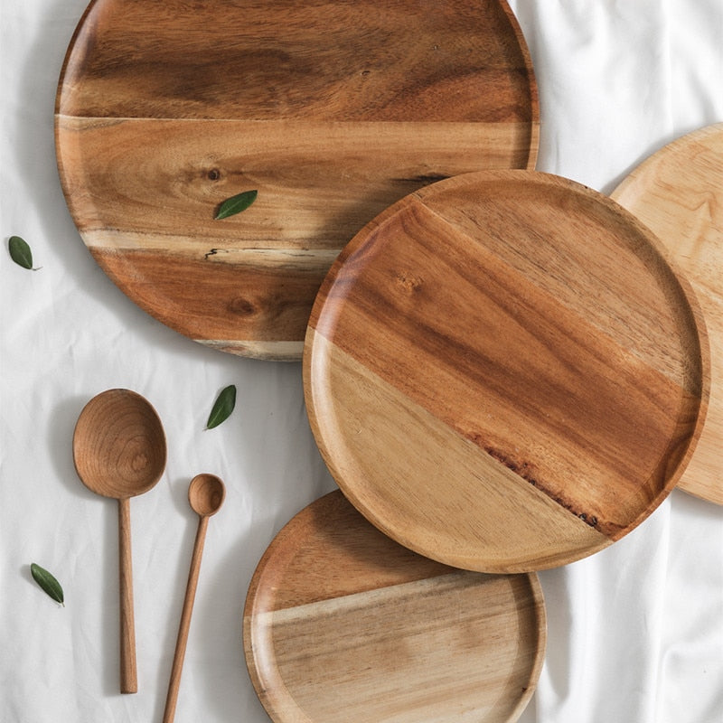 Reusable Wood Picnic Plates