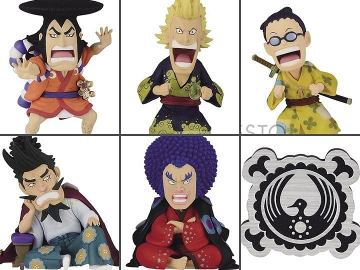 One Piece World Collectable Figure Wano Country Kaisouhen Vol.1 Set of 6