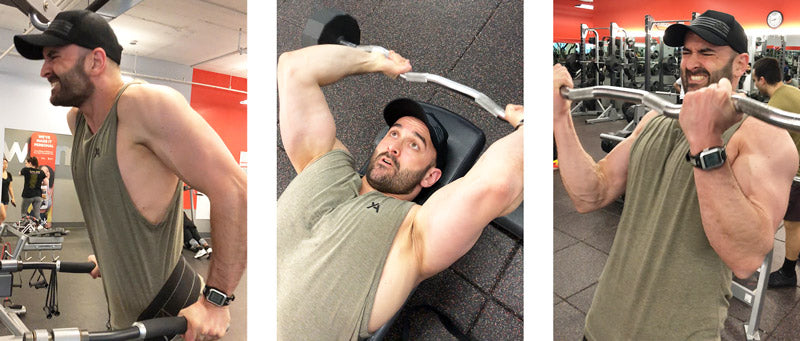Intensity arm day workout Yoked Apparel