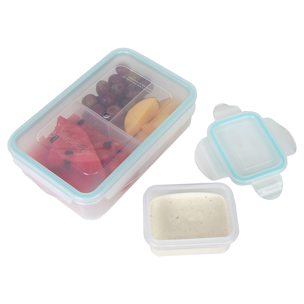 Persik Leak Proof Lunch Box Containers - 27 oz. (800 ml) Bento Meal Prep Containers with 3 Divided Removable Compartment Portion Control + PLUS BONUS + 5 oz. (150 ml) Snack/Soup Food storage Container