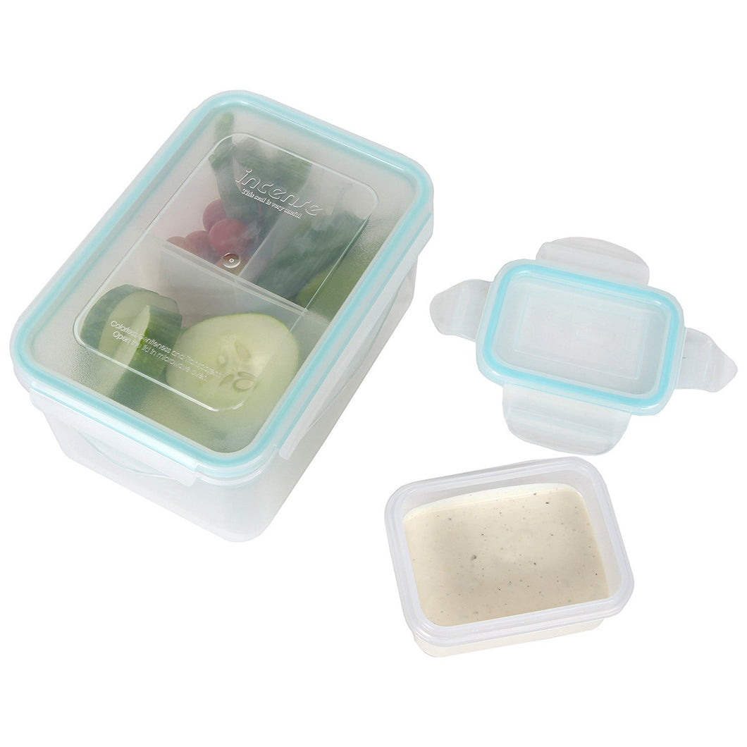 Persik Leak Proof Lunch Box Containers - 37 oz. (1.1 L) Bento Meal Prep Containers with 3 Divided Removable Compartment Portion Control + PLUS BONUS + 5 oz. (150 ml) Snack/Soup Food storage Container