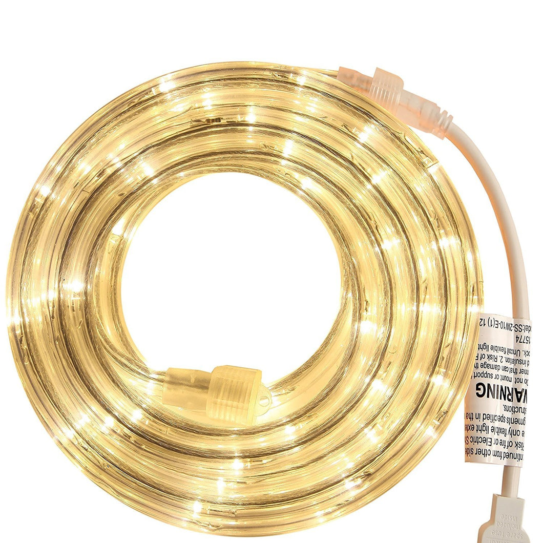 Warm White 18 Feet LED  Rope Light for Indoor and Outdoor use
