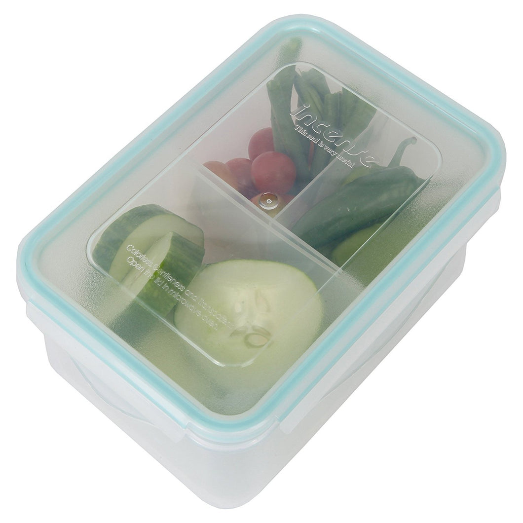 Persik Premium Leak Proof Lunch Box Containers - 37 oz. (1.1 L), Bento Meal Prep Containers BPA free, with 3 Divided Removable Compartment Portion Control, for Kids & Adults - Pack of 2