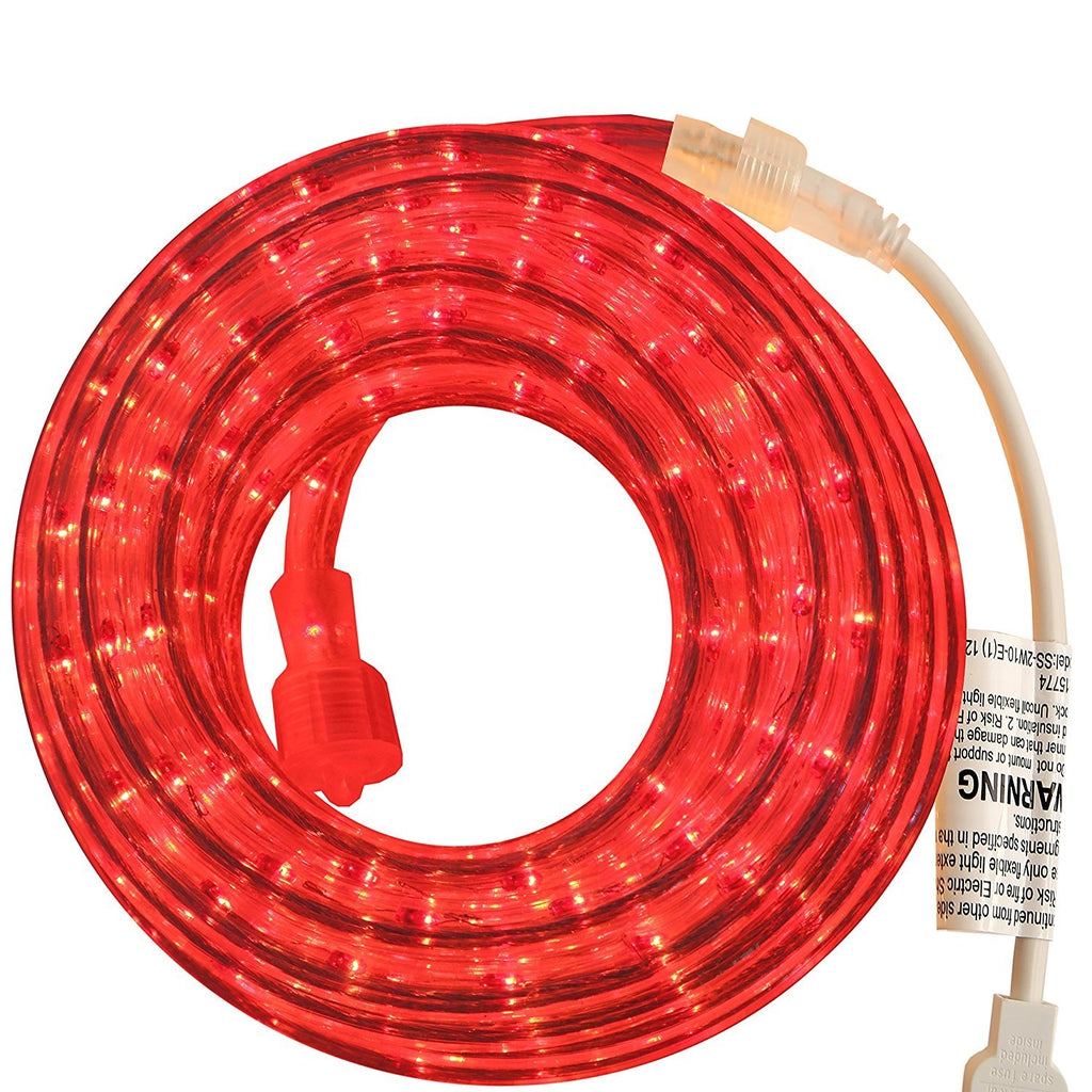 Red 18 Feet Rope Light for Indoor and Outdoor use