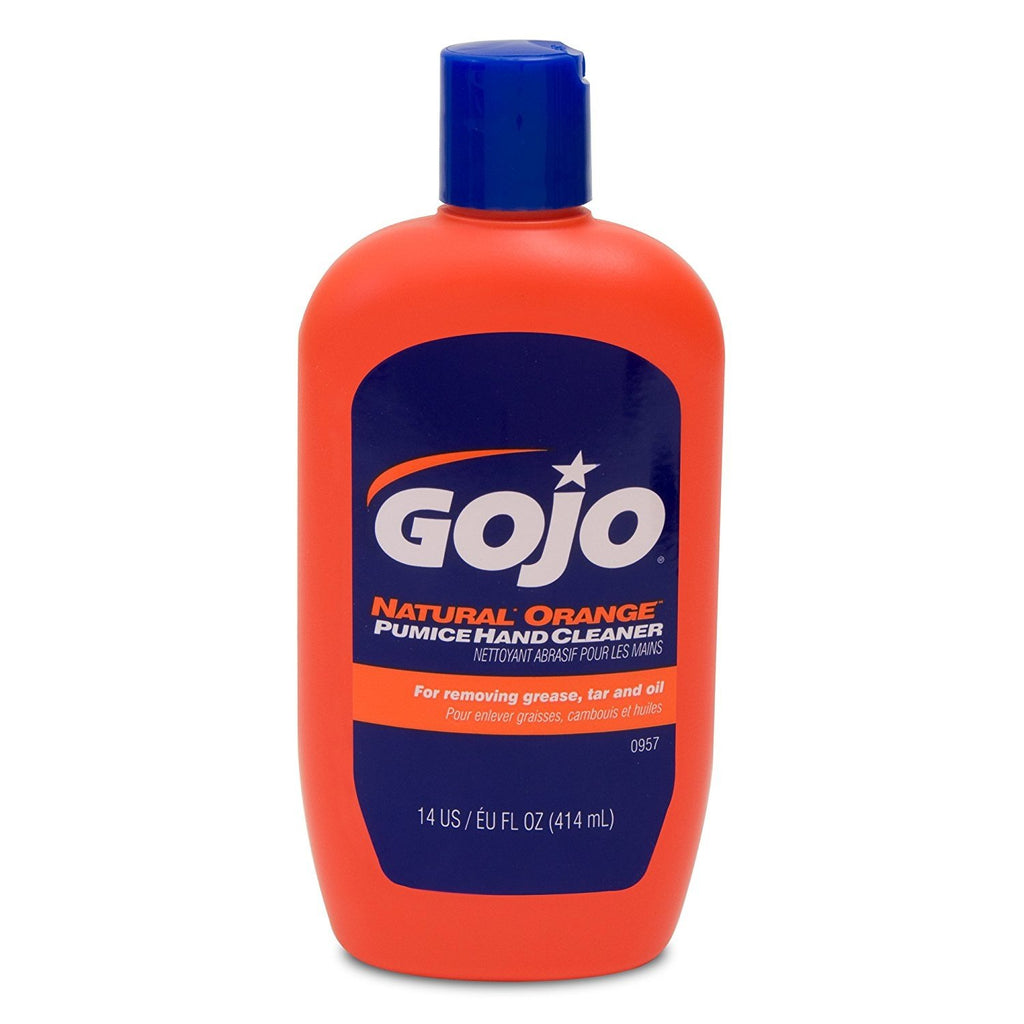 Gojo 957 Natural Orange Pumice Hand Cleaner - 14 oz.