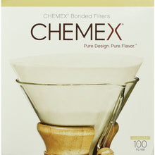 Load image into Gallery viewer, Chemex Bonded Coffee Filter, Circle, 100ct - Exclusive Packaging