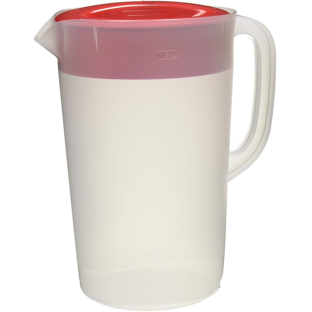 Rubbermaid Commercial RCP1777155 Not Available Rubbermaid Clear Pitcher, 1 Gallon, Red