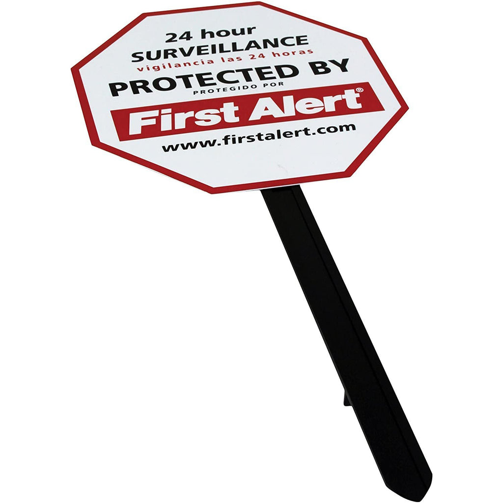 First Alert YS-1 Video Security Surveillance Yard Sign, White