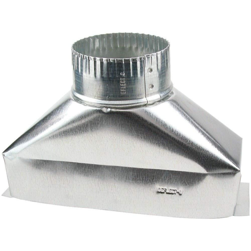 Deflect-O Jordan 4 in. Dia. x 10 in. L Galvanized Steel Duct