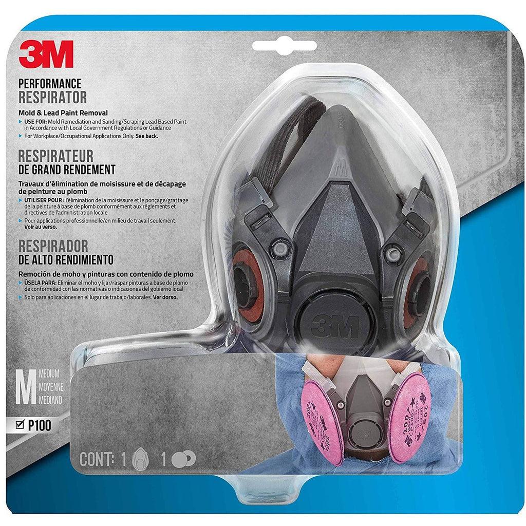 3M Mold and Lead Paint Removal Respirator, Medium - 6297PA1-A