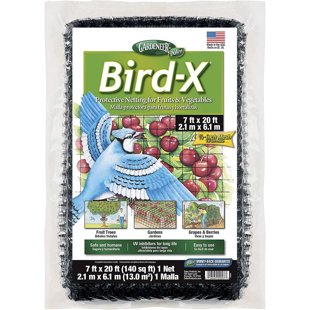 Dalen 100055855 016069000073 Gardeneer by Bird-X Protective Netting 7' x 20' (1 Pack), 1Pack