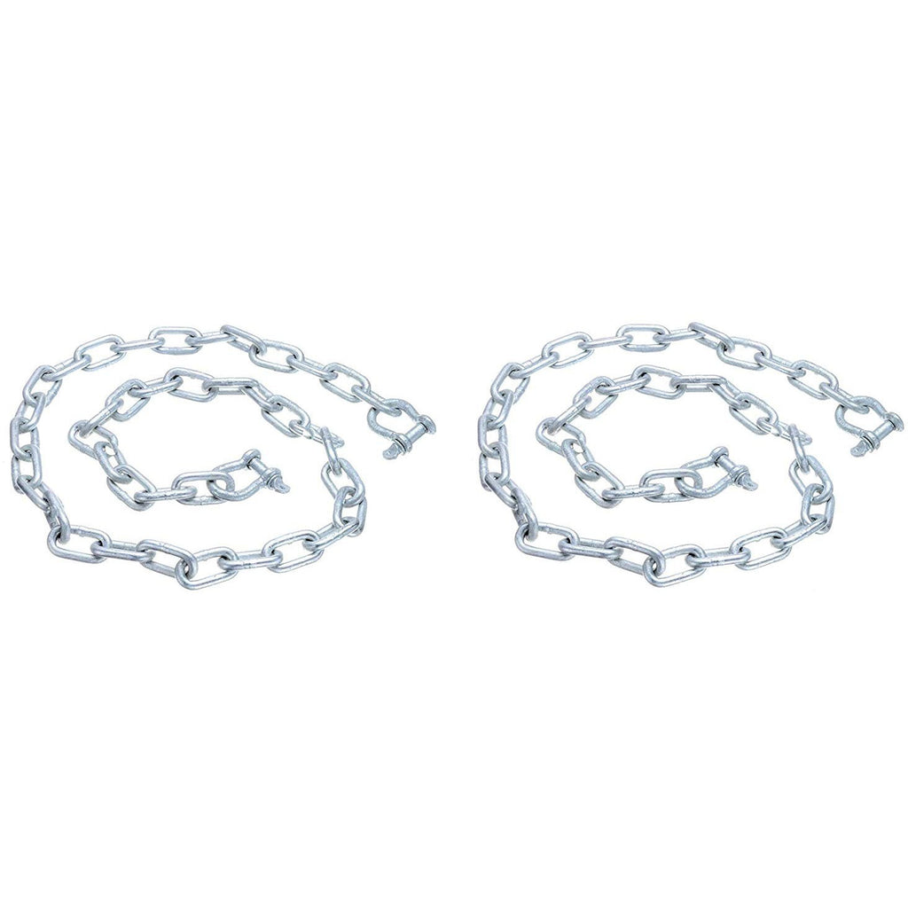 "SEACHOICE/Land&SEA INC. 44121 Anchor Lead Chain 1/4"" x 4' gallvanzed Chain with Two 5/16 Galvanized Shackles (2-(Pack))"