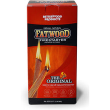 Load image into Gallery viewer, Better Wood Products Fatwood Firestarter Box, 1.5-Pounds