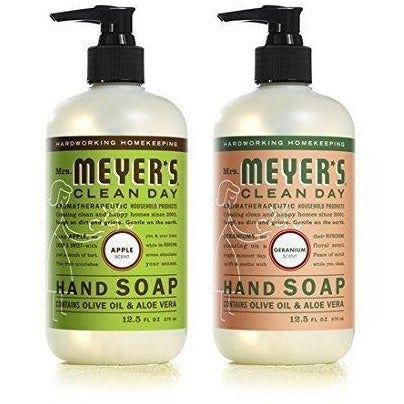 Mrs. Meyer's Clean Day Liquid Hand Soap Apple Geranium (12.5 Fl Oz each)