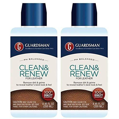 Guardsman Clean & Renew for Leather 8.45 oz - Removes Dirt and Grime, Great for Leather Furniture & Car Interiors - 470800-2 Pack