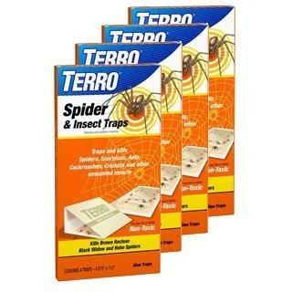 Terro 2-Pack 3200 Spider Traps 4 in a Package, (Pack of 2, 8 Traps Total)