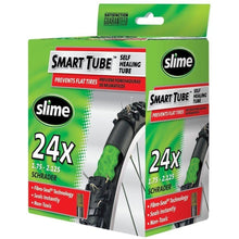"Load image into Gallery viewer, Slime Smart Tube Schrader Valve Bicycle Tube (24"" X 1.75 to 2.125)"