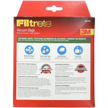 "Load image into Gallery viewer, Filtrete Miele FJM Synthetic Vacuum Bag, 6.2"" x 3.2"" x 8.2"", White"