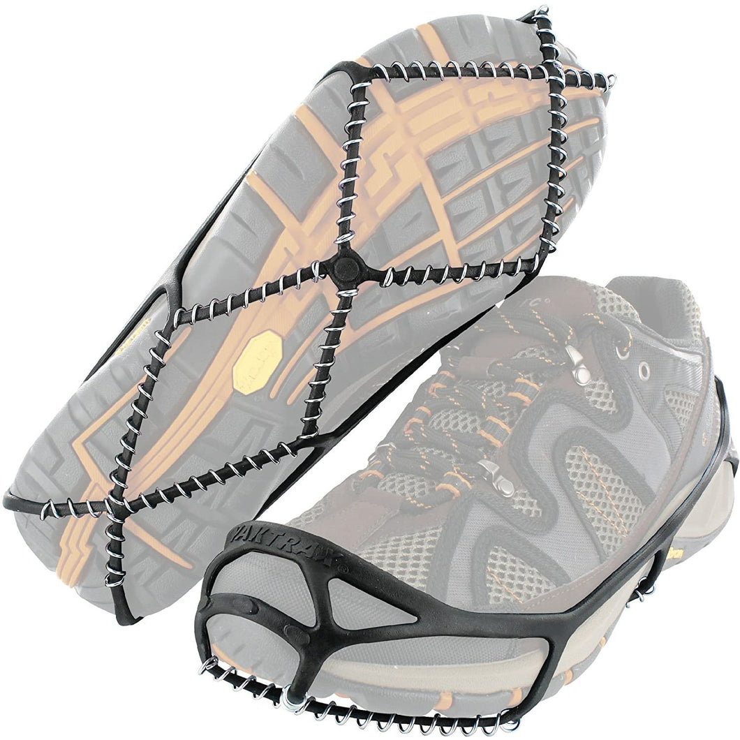Yaktrax Walker Traction Cleats for Snow and Ice,Black,Large