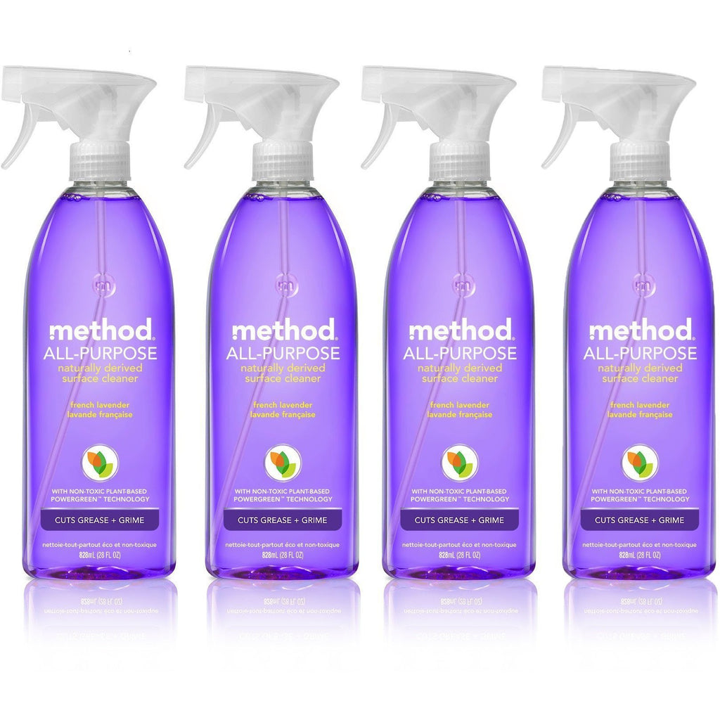 Method All Purpose Natural Surface Cleaning Spray - 28 oz - French Lavender - 4 pk