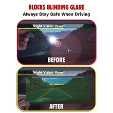 Load image into Gallery viewer, Bell + Howell TACVISOR for Day and Night, Anti-Glare Car Visor, UV-Filtering/Protection As Seen On TV