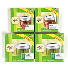 Load image into Gallery viewer, Canning Lids Set of Regular Mouth and Wide Mouth Jar Lids, 2 Packs of each (4 Total)