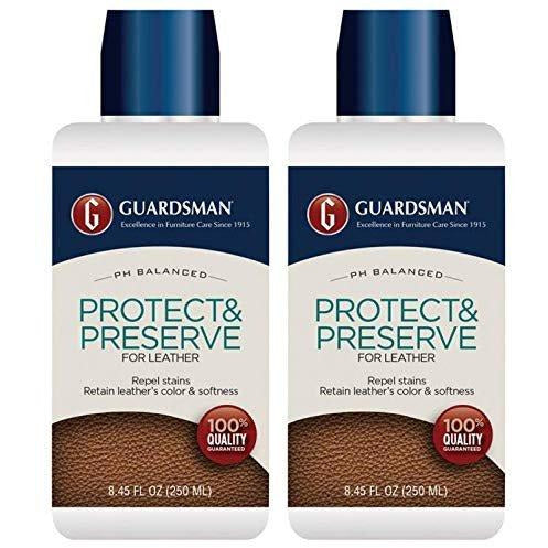 Guardsman Protect & Preserve for Leather 8.4 oz - Repels Stains, Retains Color and Softness, Great for Leather Furniture & Car Interiors - 471000-2 Pack