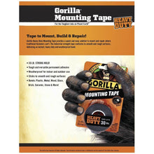 Load image into Gallery viewer, Gorilla Heavy Duty Double Sided Mounting Tape, 1 Inch x 60 Inches, Black