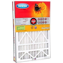 "Load image into Gallery viewer, BestAir AB1625-11R Furnace Filter, 16"" x 25"" x 5"", Trion Air Bear Replacement, MERV 11"