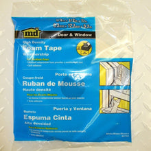 "Load image into Gallery viewer, M-D 02733 3/16"" X 3/8"" X 17' Wt Waterproof & Airtight Foam Tape Weathe"