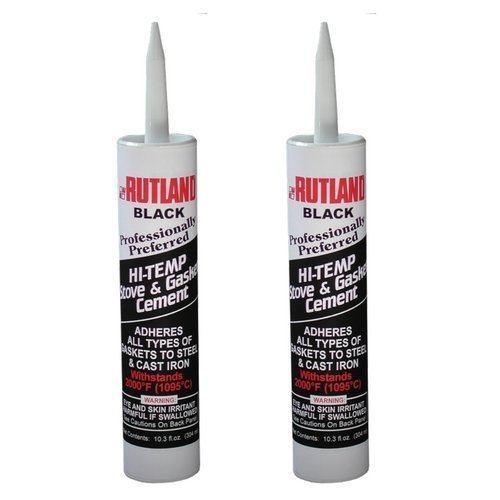 Rutland Stove Gasket Cement Black 10.3 Oz Cartridge (2 Pack)