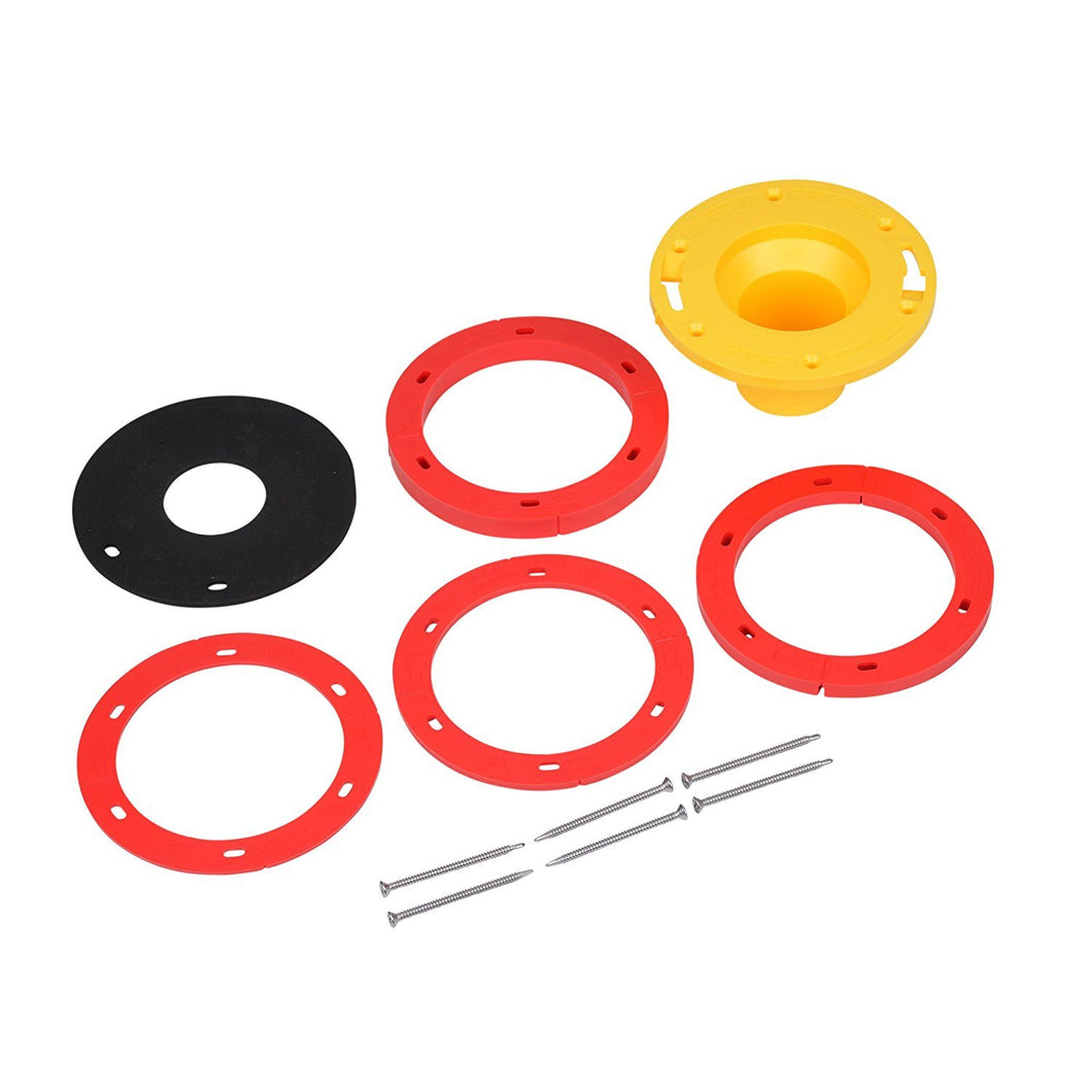 OATEY Toilet Flange Extension Kit, corrects flange elevations ranging from 1/4