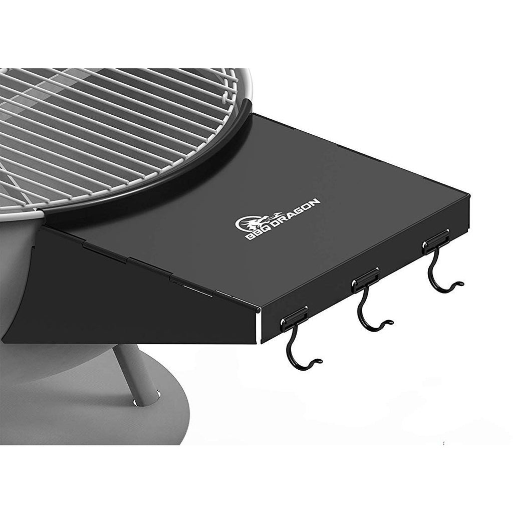 "BBQ Dragon Grill Table Fits 22"" Weber Charcoal Grills, Weber Grill Table, Weber Kettle Grill Accessories, Steel BBQ Table Folds to Store Inside Barbecue Grill"