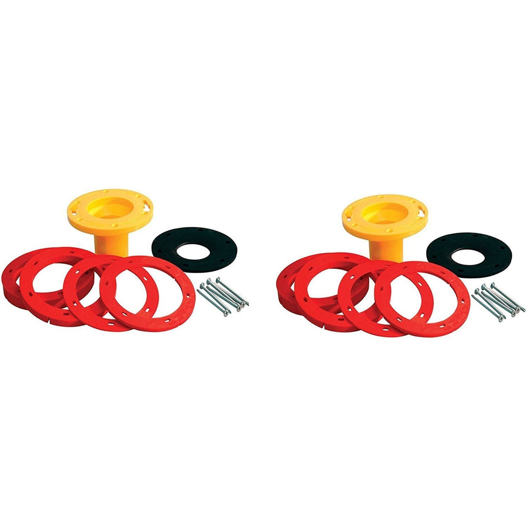 "Set-Rite Toilet Flange Extender Kit Adjustable from 1/4 "" - 1 5/8"" - 2 Pack"