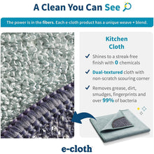 Load image into Gallery viewer, E-Cloth Cleaning Pack-1 Kitchen Non-Scratch Scrubber Corner & 1 Polishing 2 Cloth Set