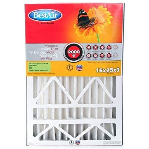 BestAir AB1625-11R Furnace Filter, 16