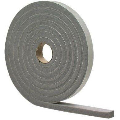 "M-D 02311 1/2"" X 10' Gray Waterproof & Airtight Foam Tape Weather Stri"