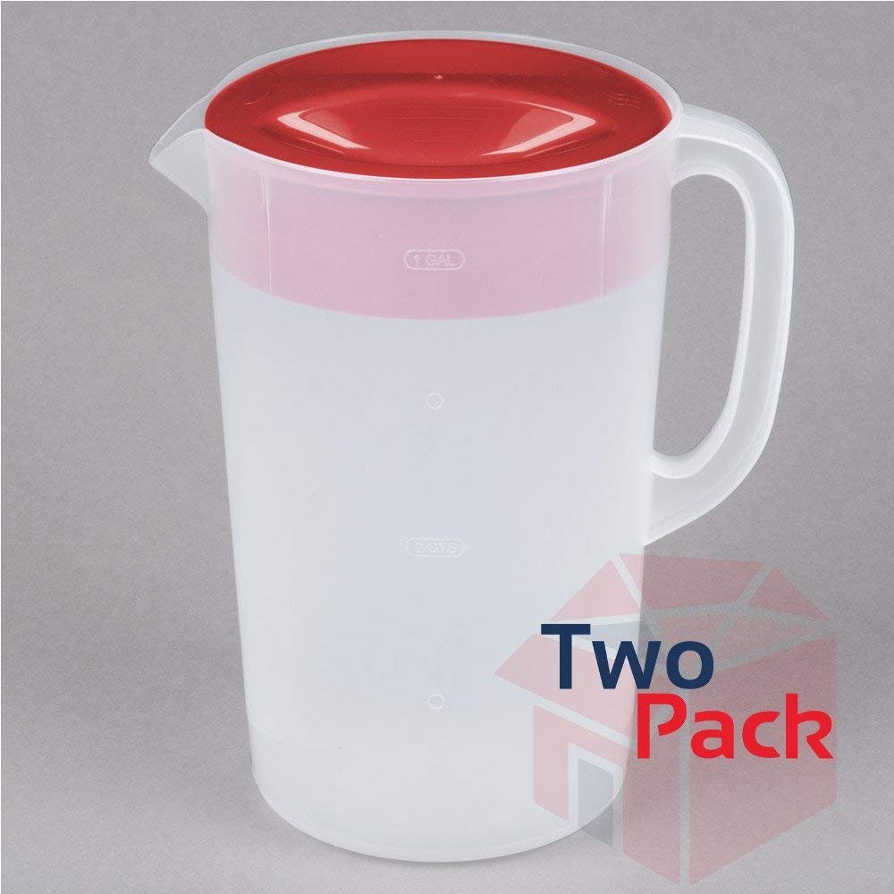 Rubbermaid 071691306320 1 Gallon Servin' Saver Pitcher (Set of 2)