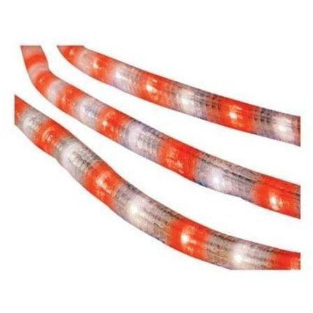 Celebrations Indoor/Outdoor Incandescent Rope Light, 18 Feet, 216 Red and White Lights