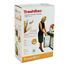 "Load image into Gallery viewer, TRASHRAC 5 Gallon Trash Rack Frame System (131/4"" W X 8"" D X 181/2"" H) + Includes 20 Refill Bags (5 Gal. 0.95mil)"