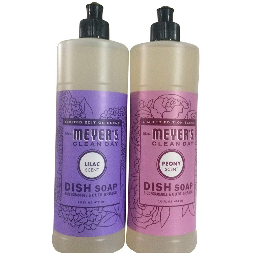 Mrs. Meyers Clean Day Limited Edition Spring Dishwashing bundle (Lilac and Peony Scent) - 16 fl oz each