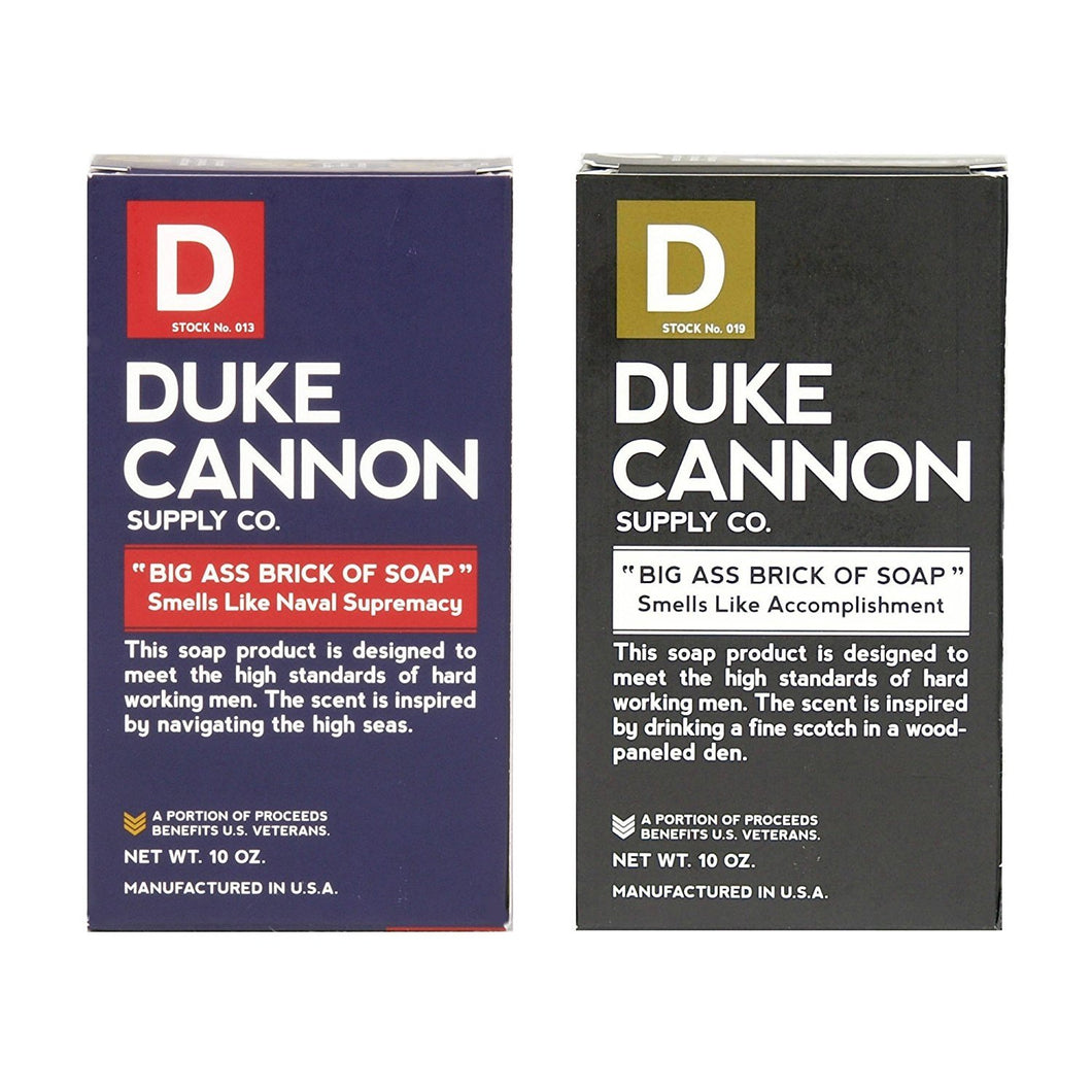Duke Cannon Big Brick of Soap for Men, 2 Pack - Naval Supremacy and Accomplishment