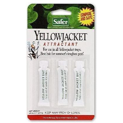 Safer 02006 Deluxe Yellow Jacket Wasp Trap Bait - 3 Refills