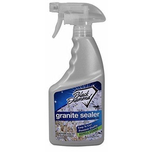 Black Diamond Stoneworks GRANITE SEALER: Seals and Protects, Granite, Marble, Travertine, Limestone and Concrete Counter Tops. Works Great On Grout, Fireplaces and Patios. 1-Pint